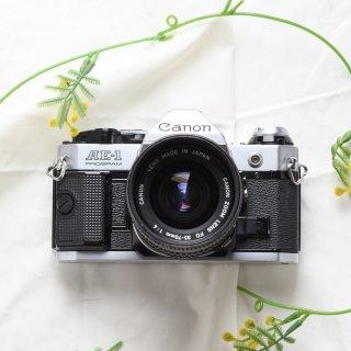 【B】CANON AE-1 PROGRAM シルバー+レンズ付き( ZOOM FD35-70mm F4)[実写済み][ 使い方がわかる ]