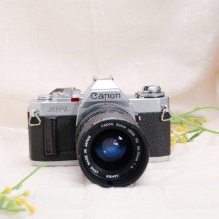 【B】CANON AV-1 シルバー+レンズ付き(ZOOM FD35-70mm F4) [実写済み][ 使い方がわかる ]