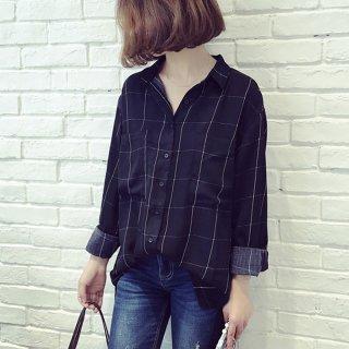 長袖 ライターシャツ チェック カジュアル 大きいサイズ