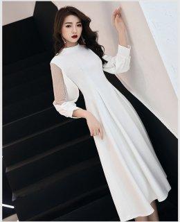 ビジネスワンピース オフィス パーティー ワンピース ドレス 白 マキシ丈 大きいサイズ レディース ワンピース ドレス