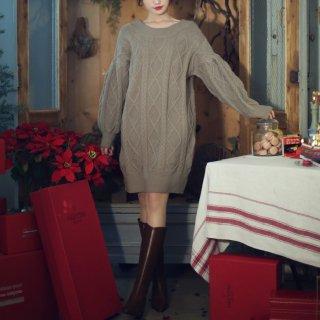 レディース セーター ゆったり 大きめ バックコンシャス セクシー 秋 秋服 30代 40代 長袖 ニットワンピ かわいい きれいめ 冬 リボン
