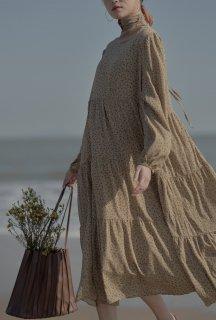 レディース ワンピース 春 秋 ロングワンピース ロング 花柄 30代 40代 ゆったり 大きめ きれいめ かわいい シンプル ナチュラル お出かけ シフォンワンピース
