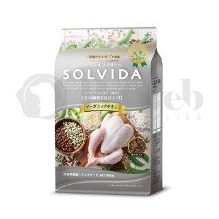 ソルビダ SOLVIDA オーガニック 室内飼育7歳以上用 オーガニックチキン 3.6kg 穀物不使用 グレインフリー