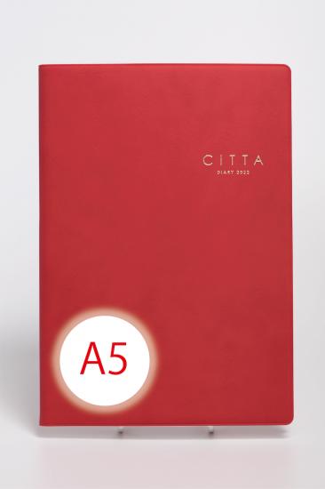 CITTA手帳<br/>2022年度版(2021年10月始まり)<br/>A5 ルージュレッド