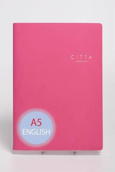 《英語版》CITTA手帳<br/>2022年度版(2021年10月始まり)<br/>A5 マーベラスピンク