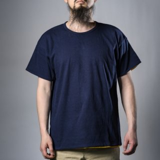 Reversible Tee Navy Yellow Loop Wheeled
