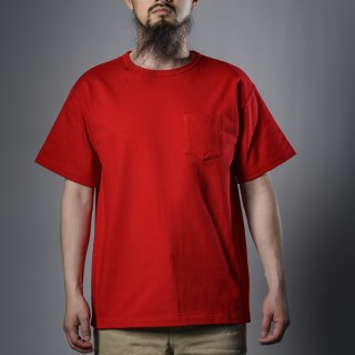 Heavy Weight Pocket Tee Red