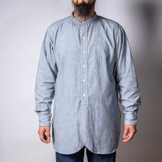 Band Collar Shirt Hickory