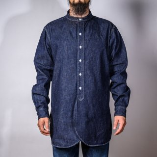Band Collar Shirt Denim
