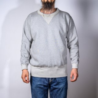 両Vトレーナー グレー Loop Wheeled V Sweater Gray