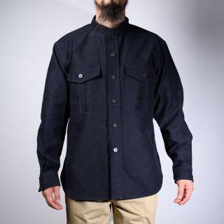 CPO Shirt Band Collar Moleskin Dark Navy