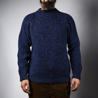 フィッシャーマンセーター ネイビー杢 カシミア fisherman sweater navy cashmere