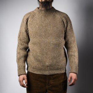 フィッシャーマンセーター カフェオレ シェットランド fisherman sweater cafe ore Shetland