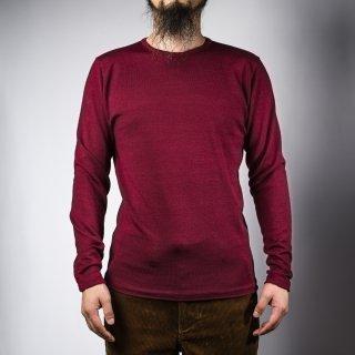 クルーネックセーター バーガンディ  crew neck sweater burgundy