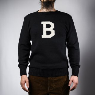 Bセーター ブラック×ホワイト  B-sweater black×white