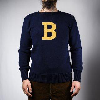 Bセーター ネイビー×イエロー  B-sweater navy×yellow