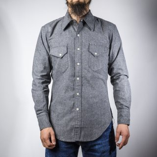 BONCOURA ウェスタン シャツ コットンフラノ グレー Western Shirt Cotton Flannel Gray