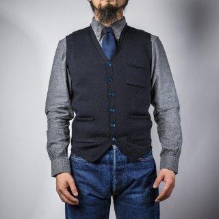 ニットベスト ネイビー (knit vest navy)
