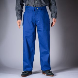 ワークパンツ イングリッシュツイル インクブルー Work Pants English Twill blue