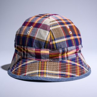 US navy reversible hat vintage madras plaid limited edition