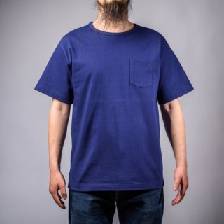 Heavy Weight Pocket Tee Ink Blue