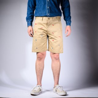 Embroidered Shorts Chino