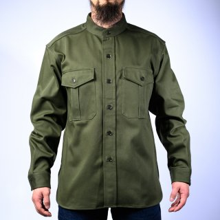CPO Shirt Bandcollar English Twill Olive