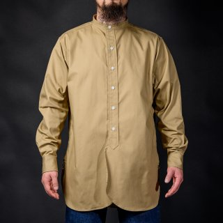 Band Collar Shirt Khaki