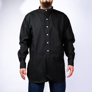 Band Collar Shirt Poplin black