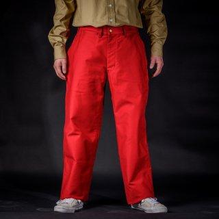 ワークパンツ モールスキン レッド Work Pants Moleskin Red