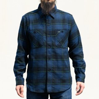 Work Shirt Flannel Navy Tartan