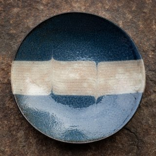 BONCOURA 丸皿 7寸 インディゴヒッコリー