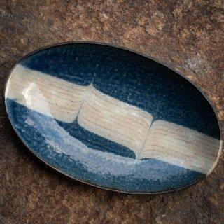 BONCOURA 楕円皿 大 インディゴヒッコリー