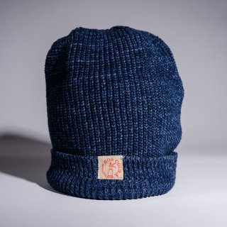 Knit Cap Heather indigo Cotton