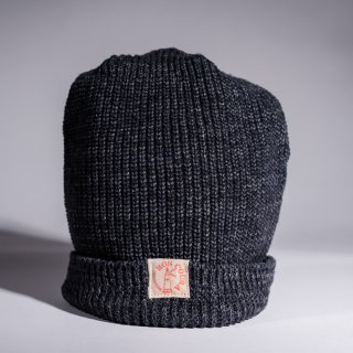 Knit Cap Heather charcoal Cotton
