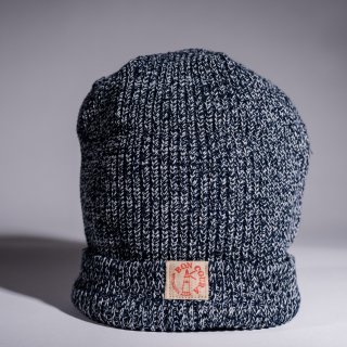 Knit Cap Heather navy × gray Cotton