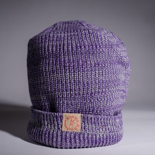 Knit Cap Heather purple Cotton