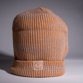 Knit Cap Heather orange Cotton