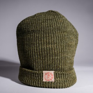 Knit Cap Heather moss green Cotton
