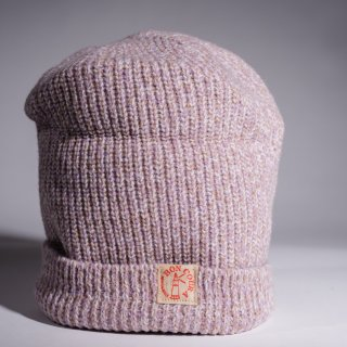 Knit Cap Heather pink purple Wool Dead Stock Yarn