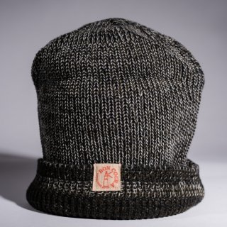 Knit Cap Heather olive × navy × white Wool