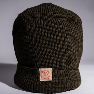 Knit Cap olive Wool