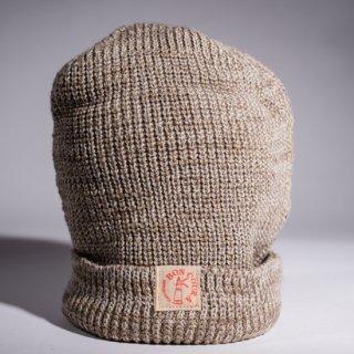 Knit Cap Heather light ocher × white Dead Stock Yarn