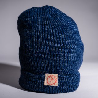 Knit Cap Heather indigo Dead Stock Yarn