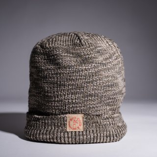 Knit Cap Heather ocher gray × light gray Dead Stock Yarn