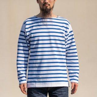 ブレトンシャツ Breton Shirt Long Sleeve Raschel Knit blue white