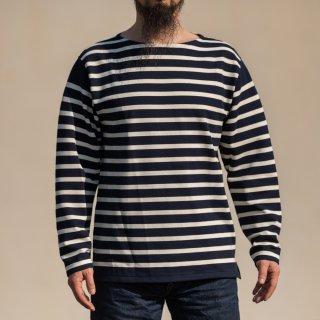ブレトンシャツ Breton Shirt Long Sleeve Raschel Knit navy off white