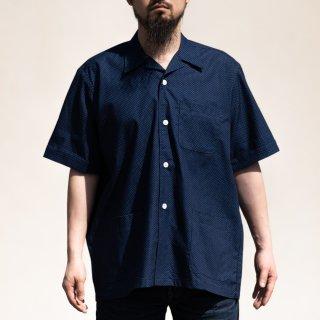 Shirt Jacket Dot Indigo