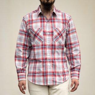 SALON BONCOURA Limited Work Shirt Shadow Plaid red