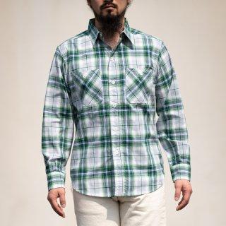 SALON BONCOURA Limited Work Shirt Shadow Plaid green